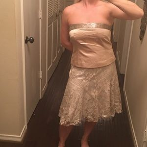 NWT Beaded Strapless Formal Top